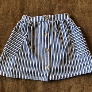 Zara Girls Striped Skirt